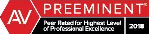 PREEMINENT - Peer Rated for Highest Level of Professional Excellence 2018